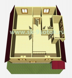 Дом 9х9 метра «Адмирал»