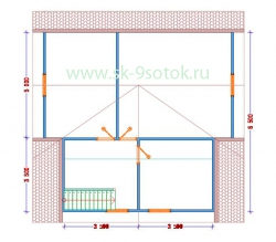 Дом 9х9 метра «Зодчий»
