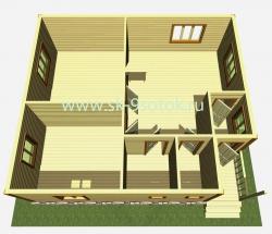 Дом 9х8 метров «Детинец»