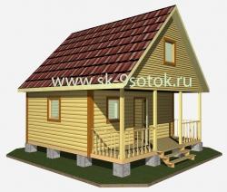 Дом-баня 6х6 метра «Прогресс-2»