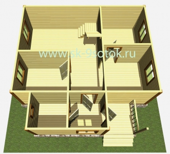 Дом 8х8 метра «Усадьба»