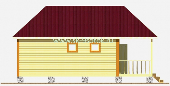 Дом 8х8 метра «Фазенда»