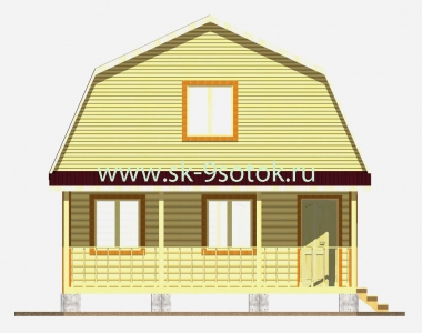 Дом 6х7,5 метра «МатКап»