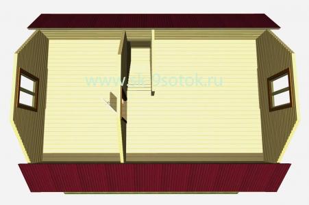 Дом 6х8 метра «Череповец»