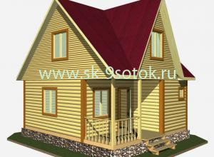 Дом-баня 6х6 метра «Байкал»