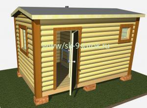 Мобильная баня 4х2.3 метра «Малышка»
